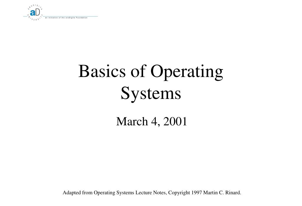 basics of operating systems l.