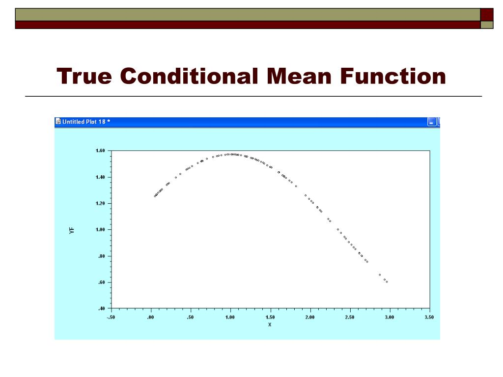 True Conditional Mean Function