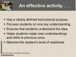 an effective activity