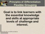 principles of differentiation flexible grouping16