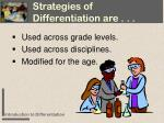 strategies of differentiation are