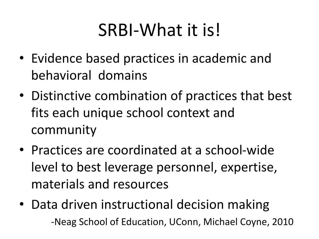 SRBI-What it is!