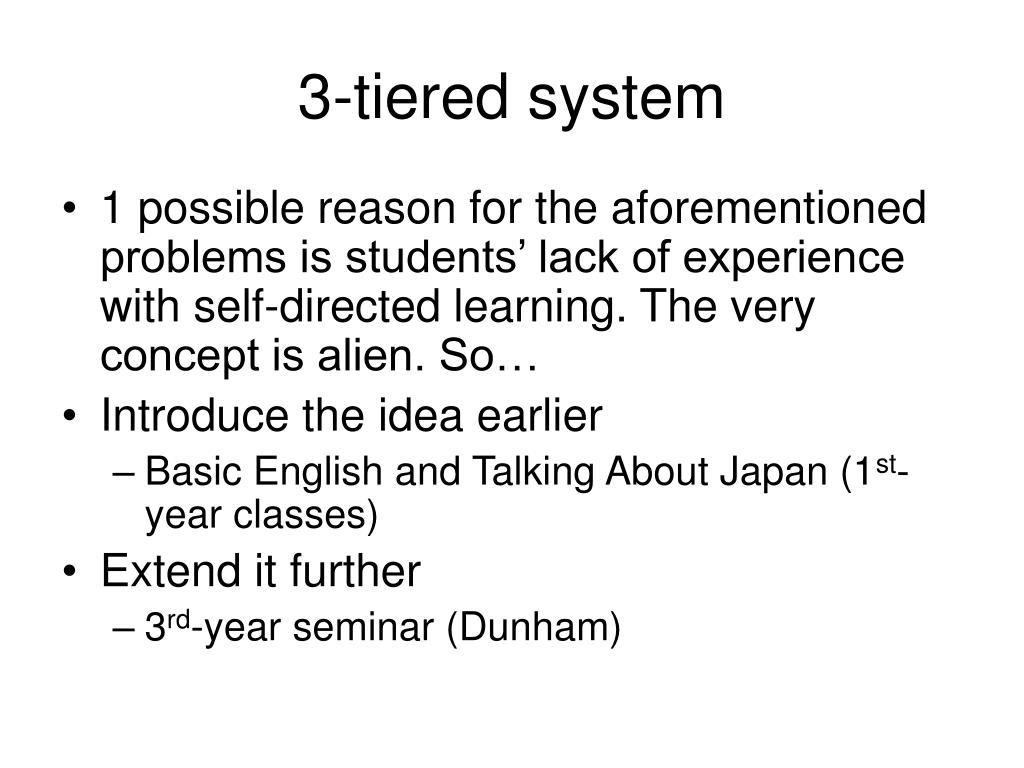 3-tiered system