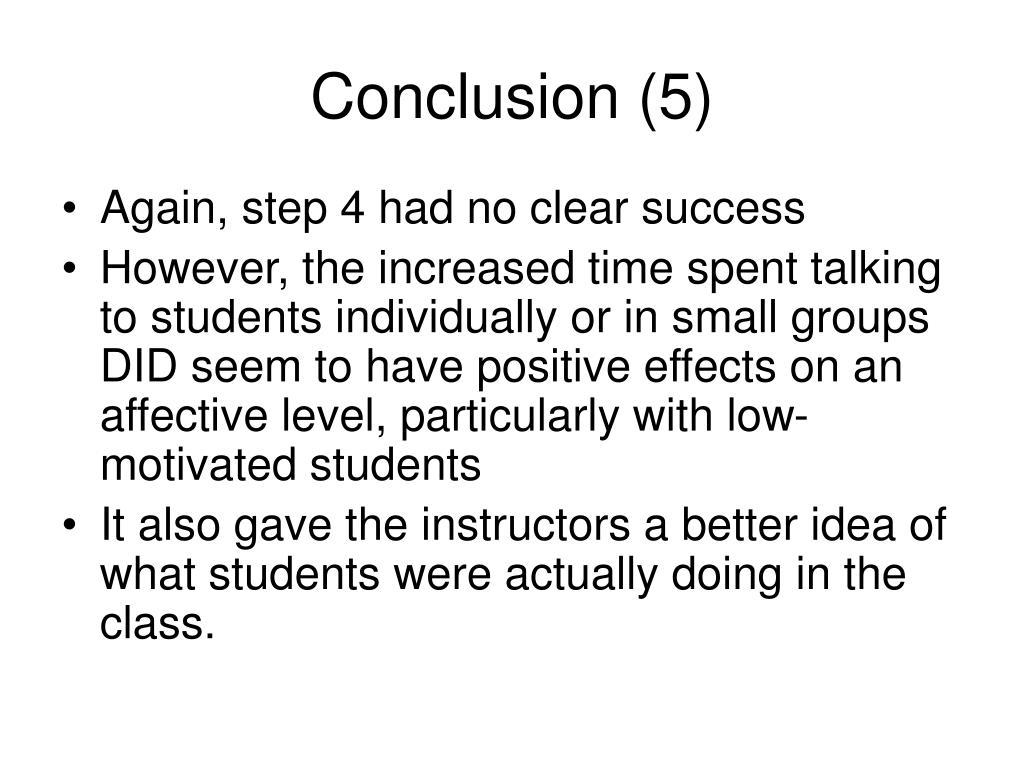 Conclusion (5)