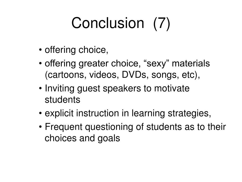 Conclusion  (7)