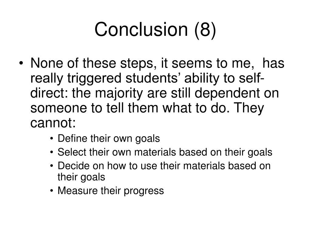 Conclusion (8)