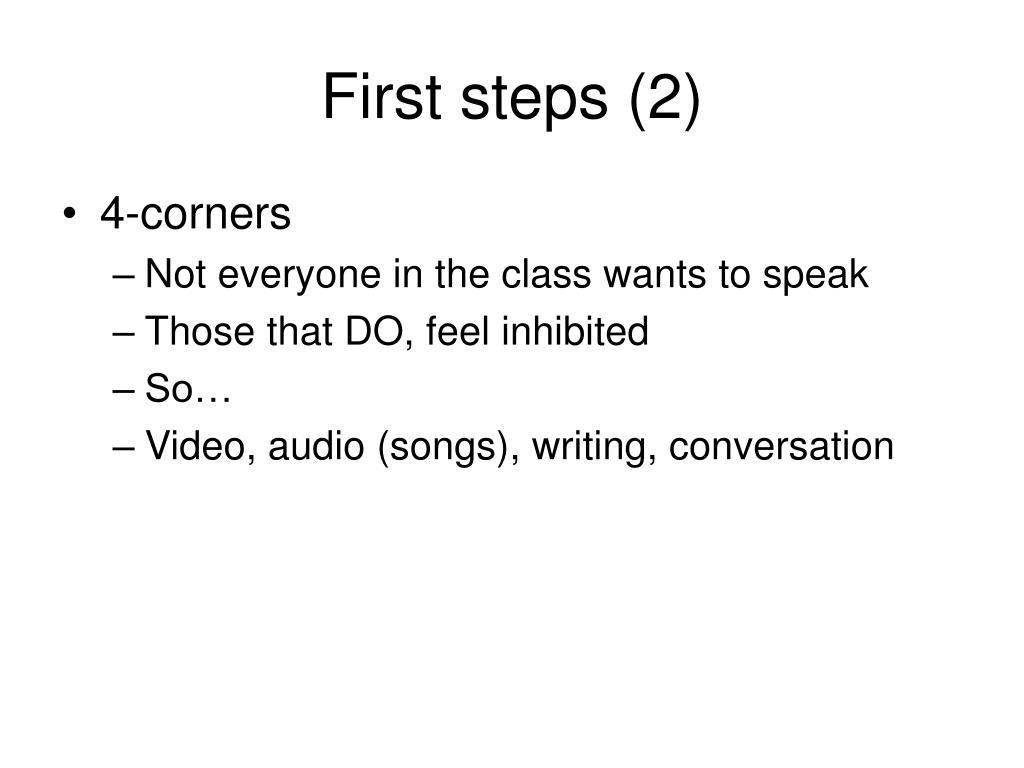 First steps (2)