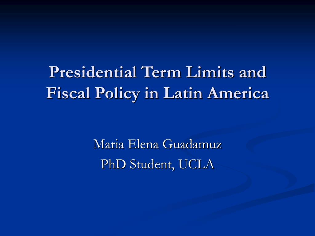 Presidential Term Limits and Fiscal Policy in Latin America