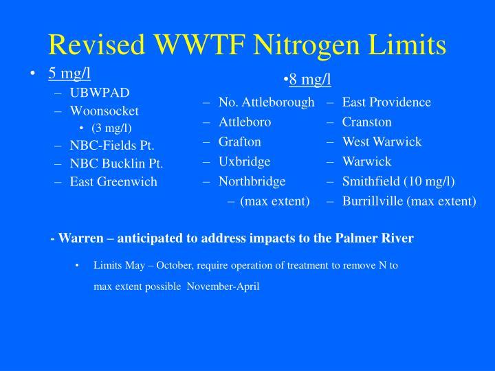 Revised WWTF Nitrogen Limits