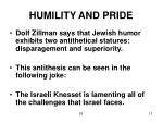 humility and pride