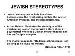 jewish stereotypes