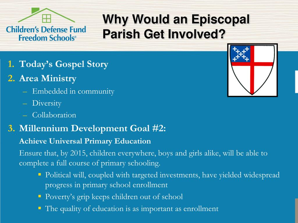 Why Would an Episcopal Parish Get Involved?