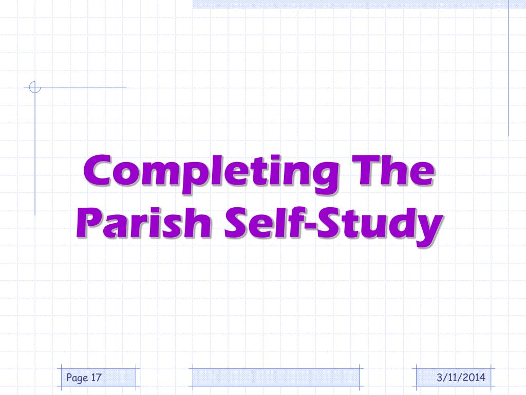 Completing The Parish Self-Study