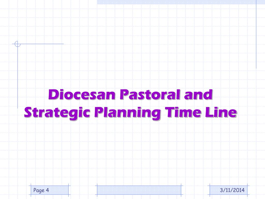Diocesan Pastoral and Strategic Planning Time Line