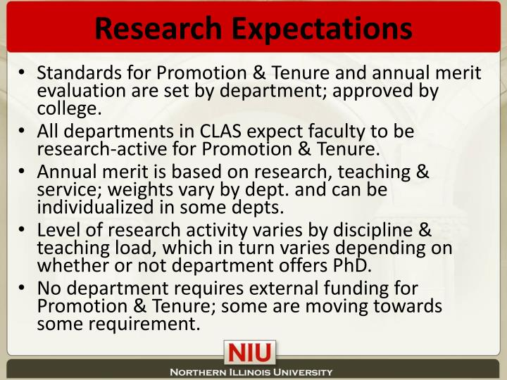 Research Expectations