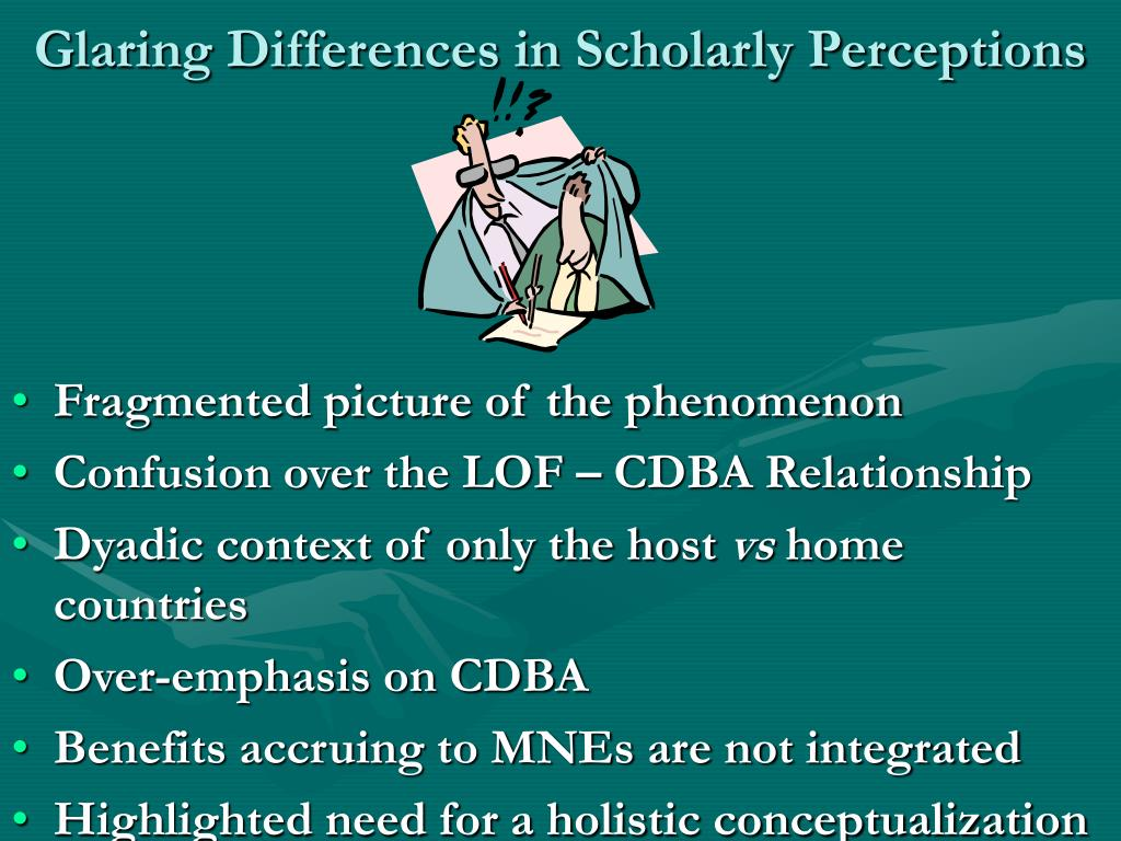 Glaring Differences in Scholarly Perceptions