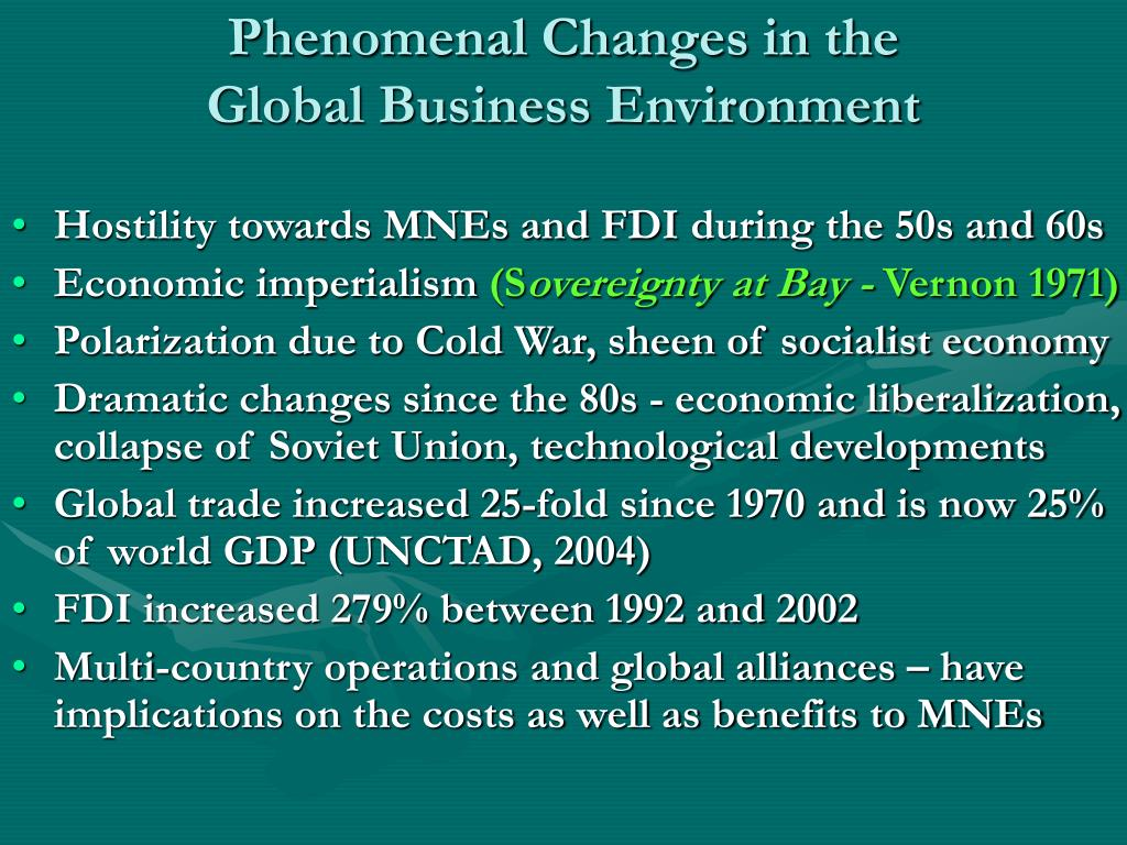 Phenomenal Changes in the