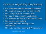 opinions regarding the process