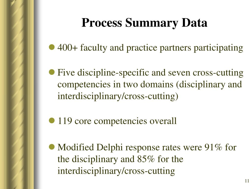 Process Summary Data