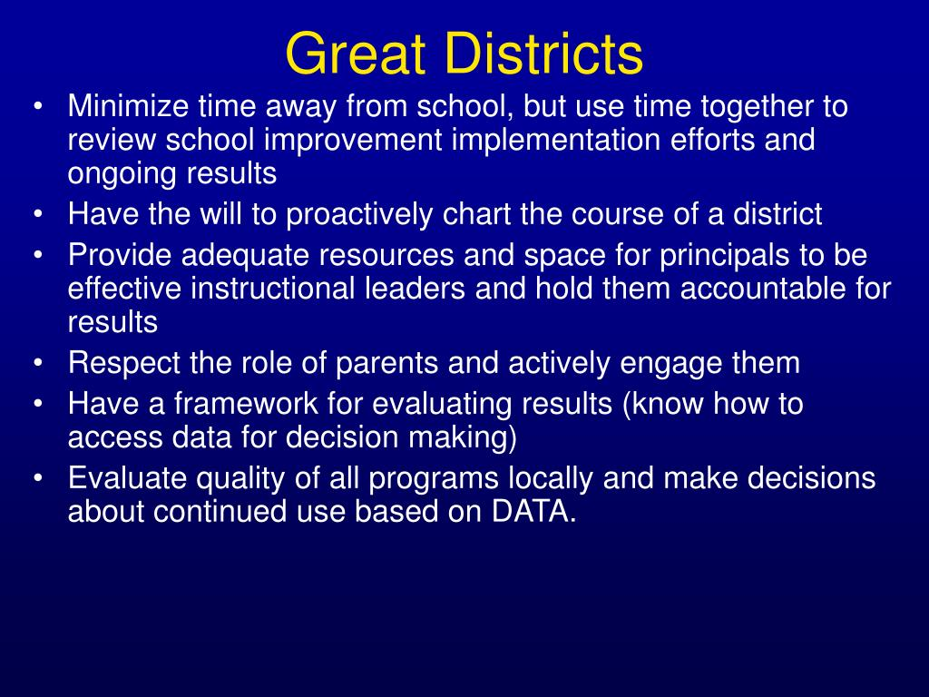 Great Districts