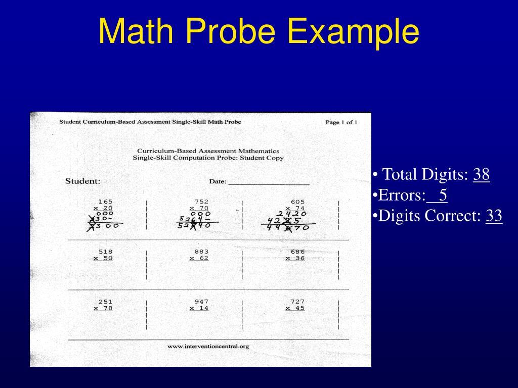 Math Probe Example