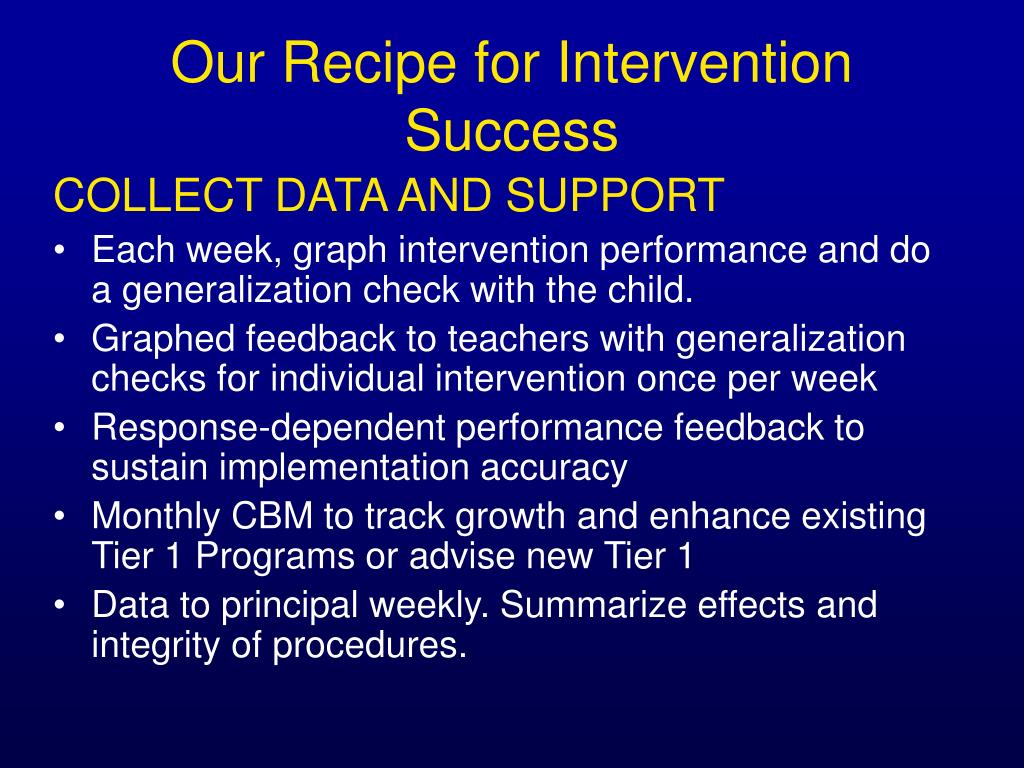 COLLECT DATA AND SUPPORT
