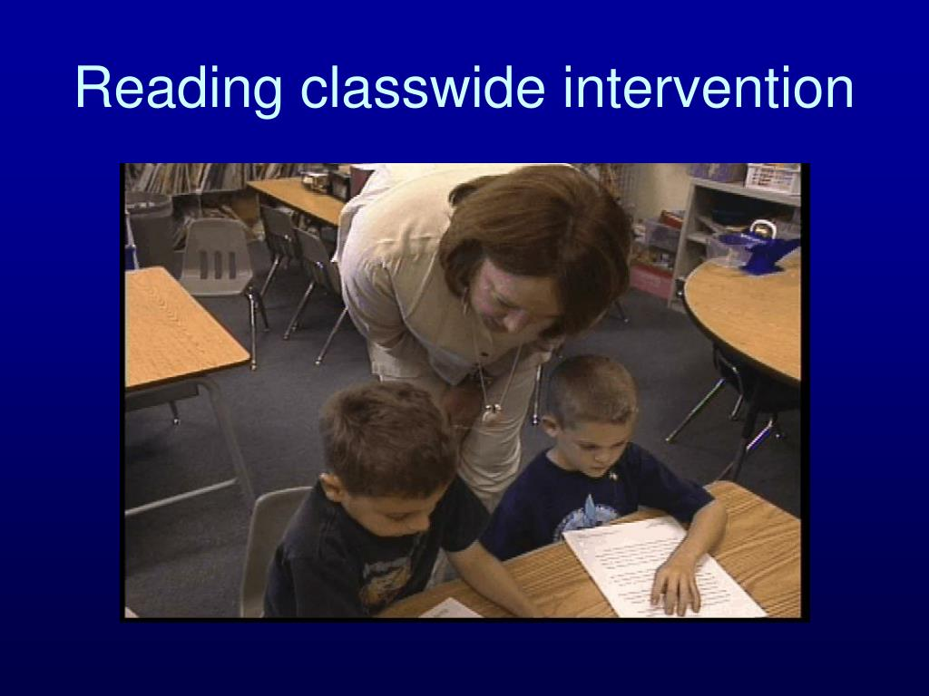 Reading classwide intervention