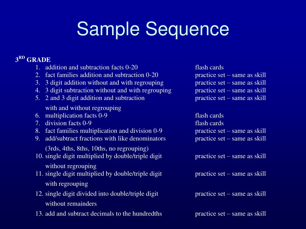 Sample Sequence