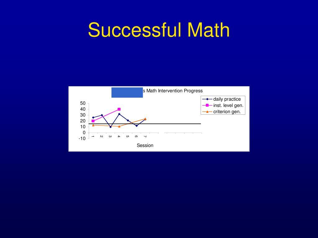 Successful Math