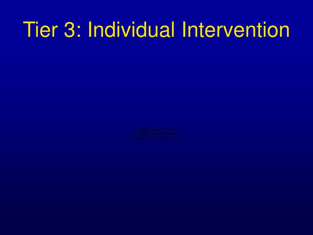 Tier 3: Individual Intervention
