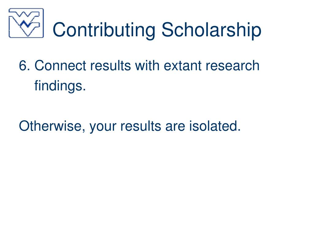 Contributing Scholarship