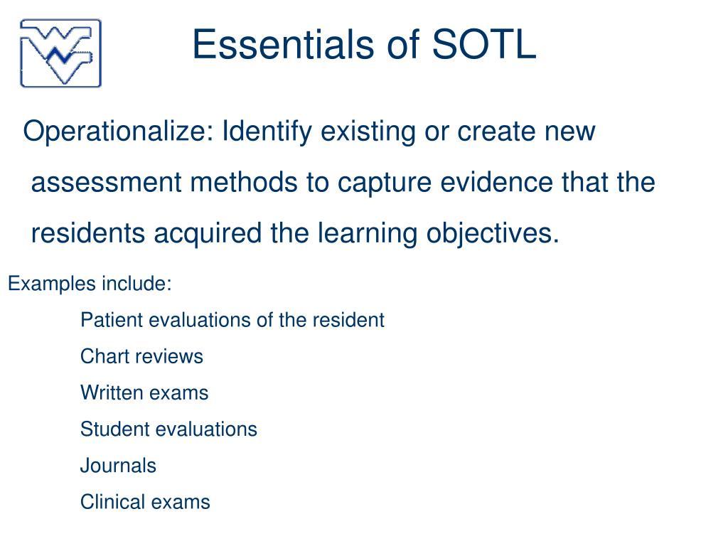 Essentials of SOTL