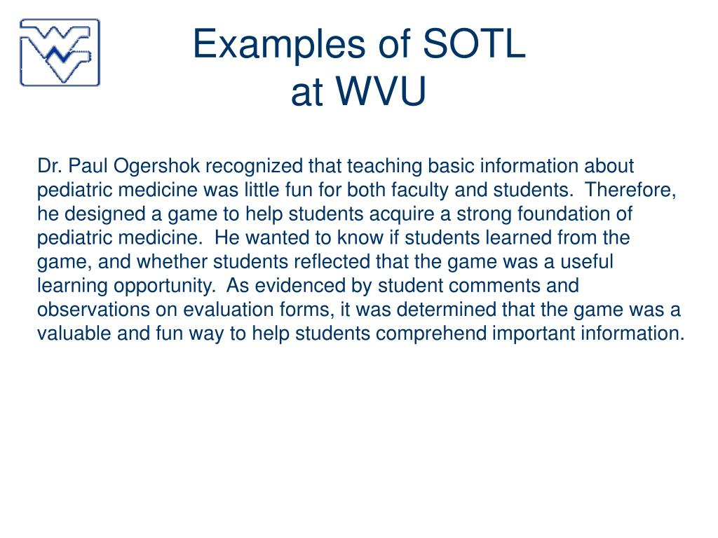 Examples of SOTL