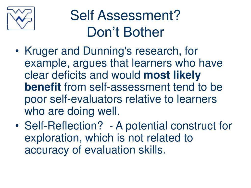 Self Assessment?