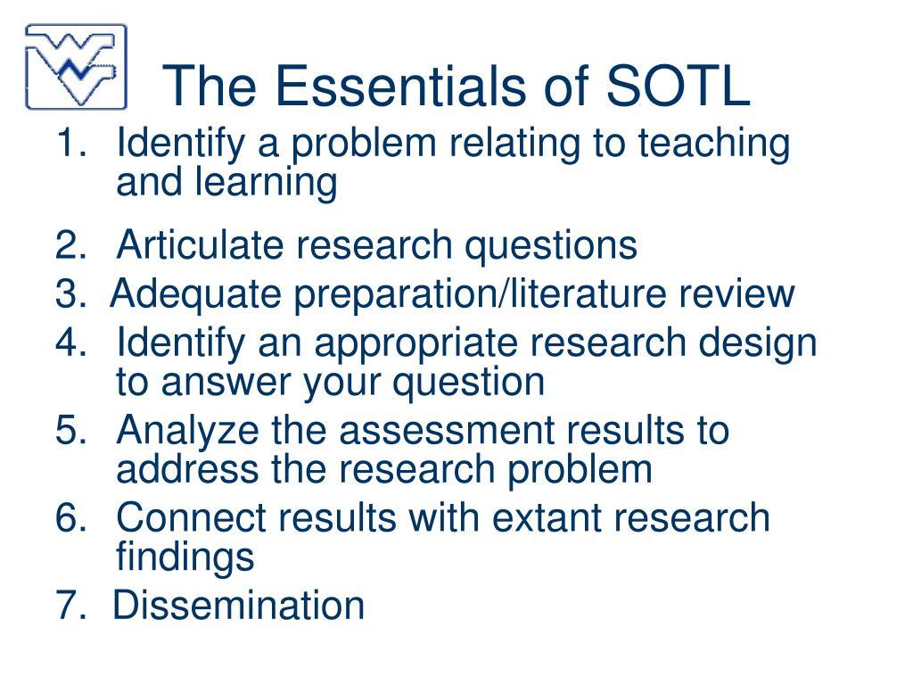 The Essentials of SOTL