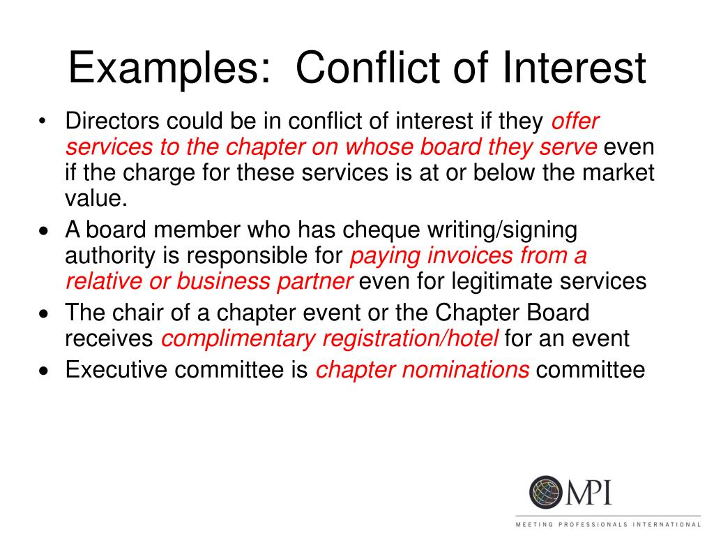 mha 614 conflict of interest Covered individuals all employees of the foundation are covered by this policy please note: foundation trustees, officers, and board committee members are covered by a separate conflict-of-interest policy.