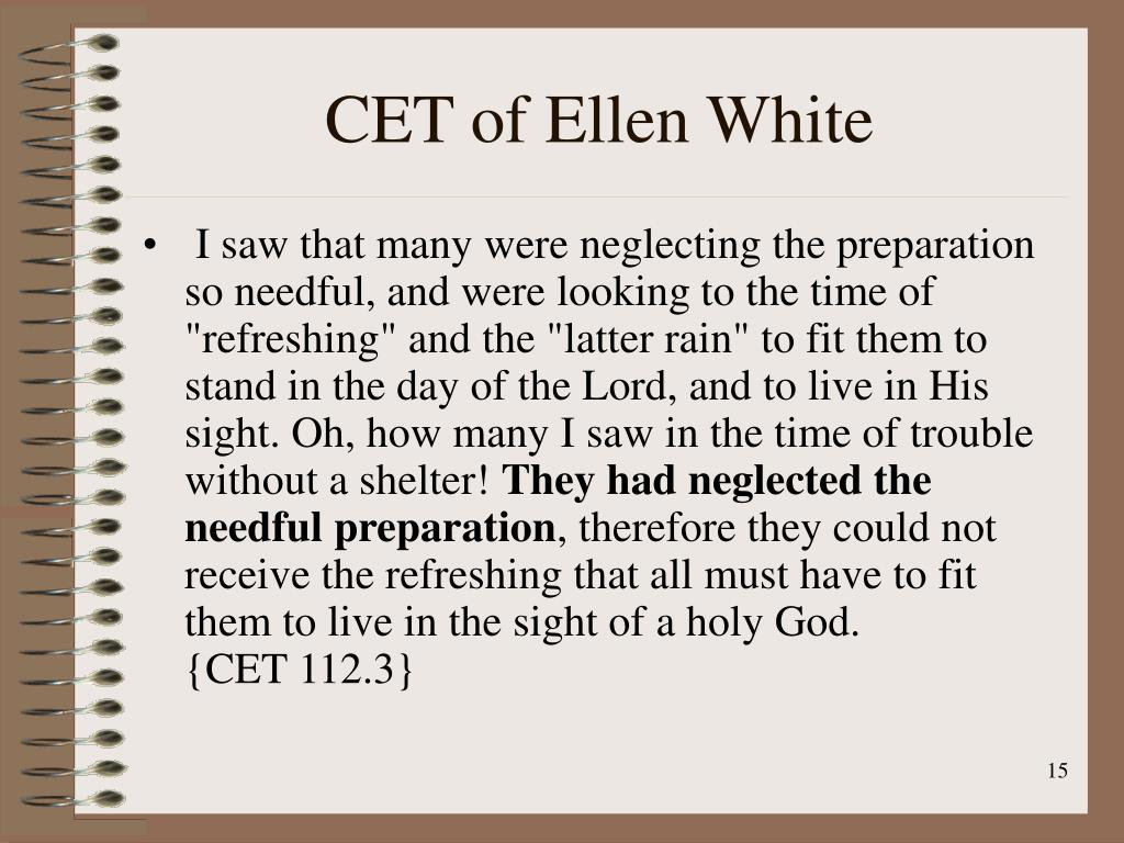 CET of Ellen White
