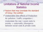 limitations of national income statistics17