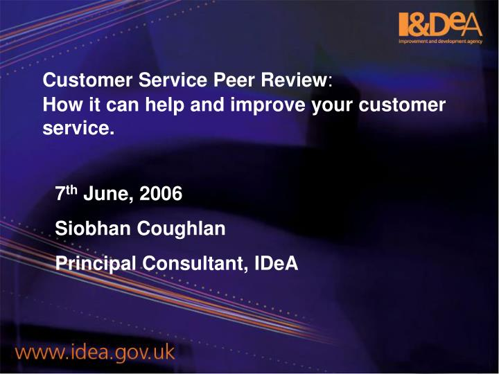 Customer service peer review how it can help and improve your customer service