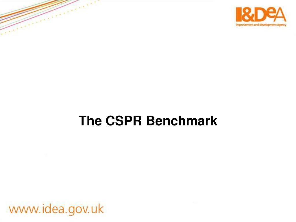 The CSPR Benchmark
