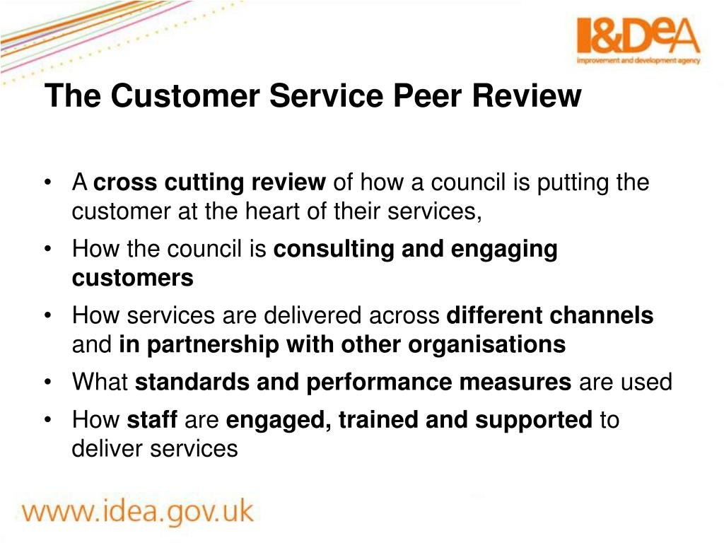 The Customer Service Peer Review