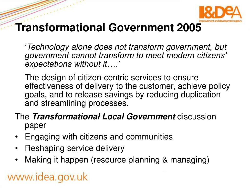 Transformational Government 2005