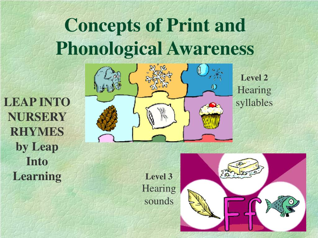 Concepts of Print and Phonological Awareness