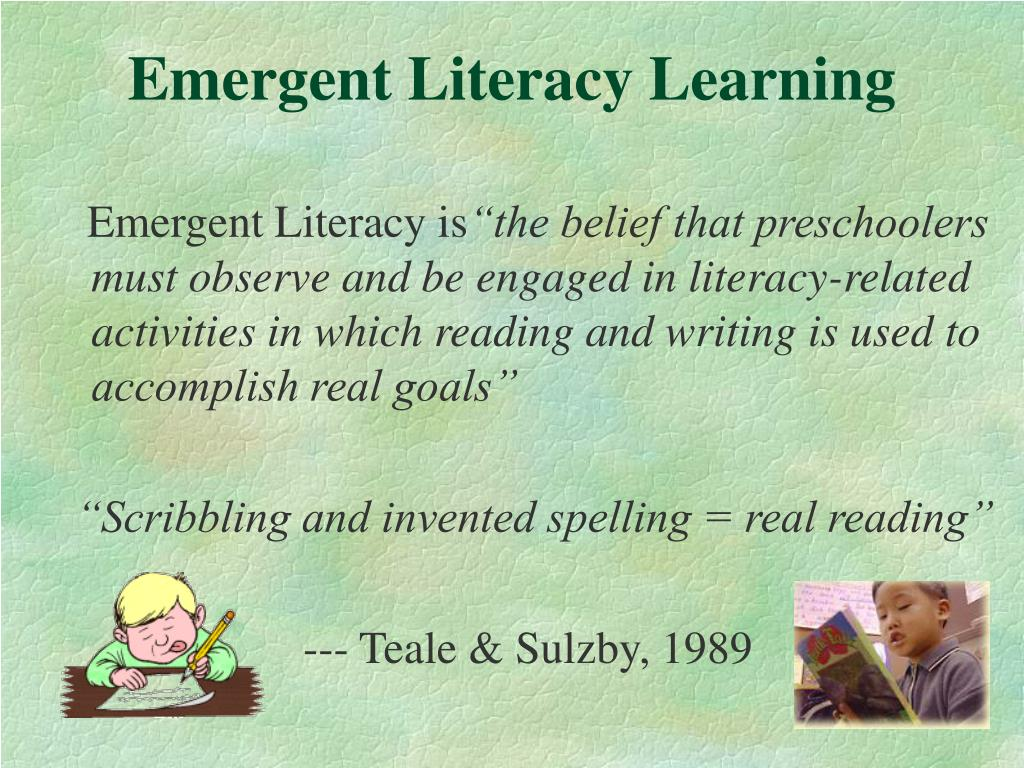 Emergent Literacy Learning