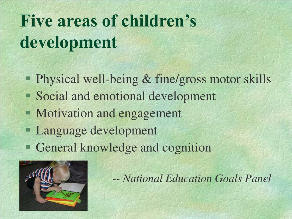 Five areas of children's development