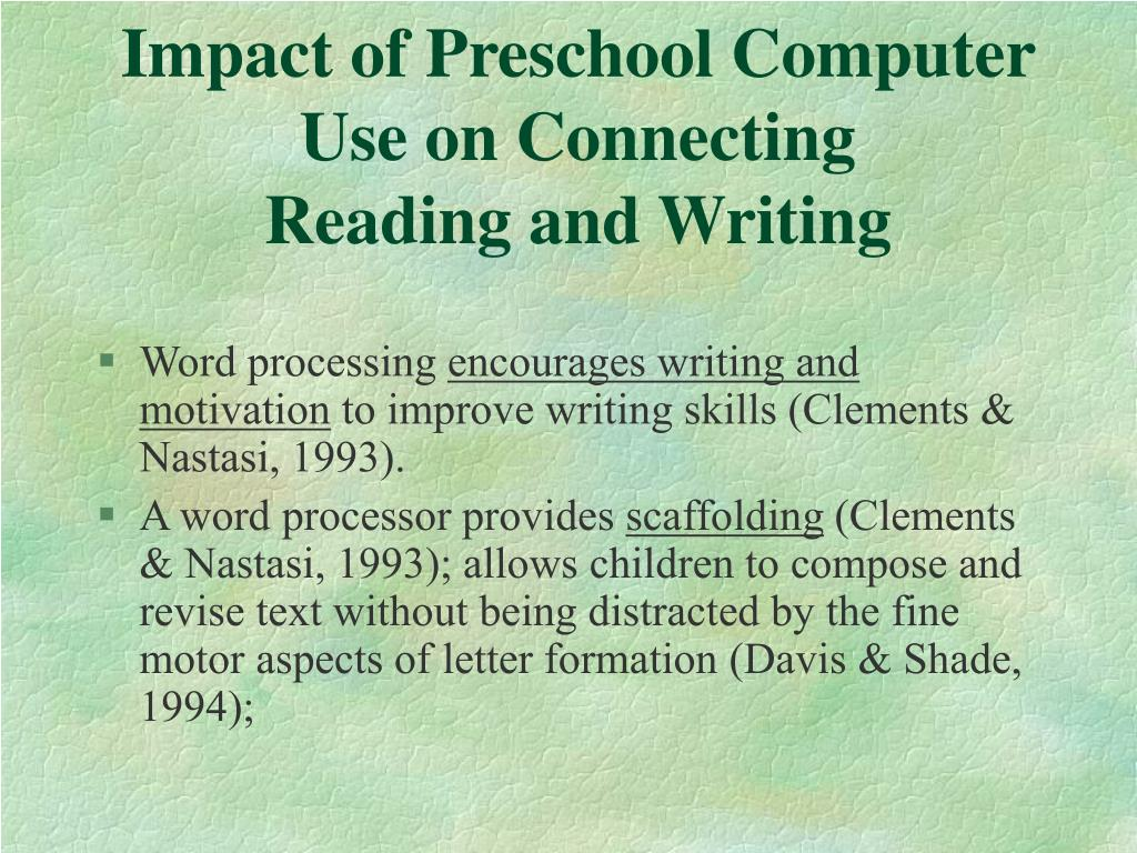 Impact of Preschool Computer Use on Connecting