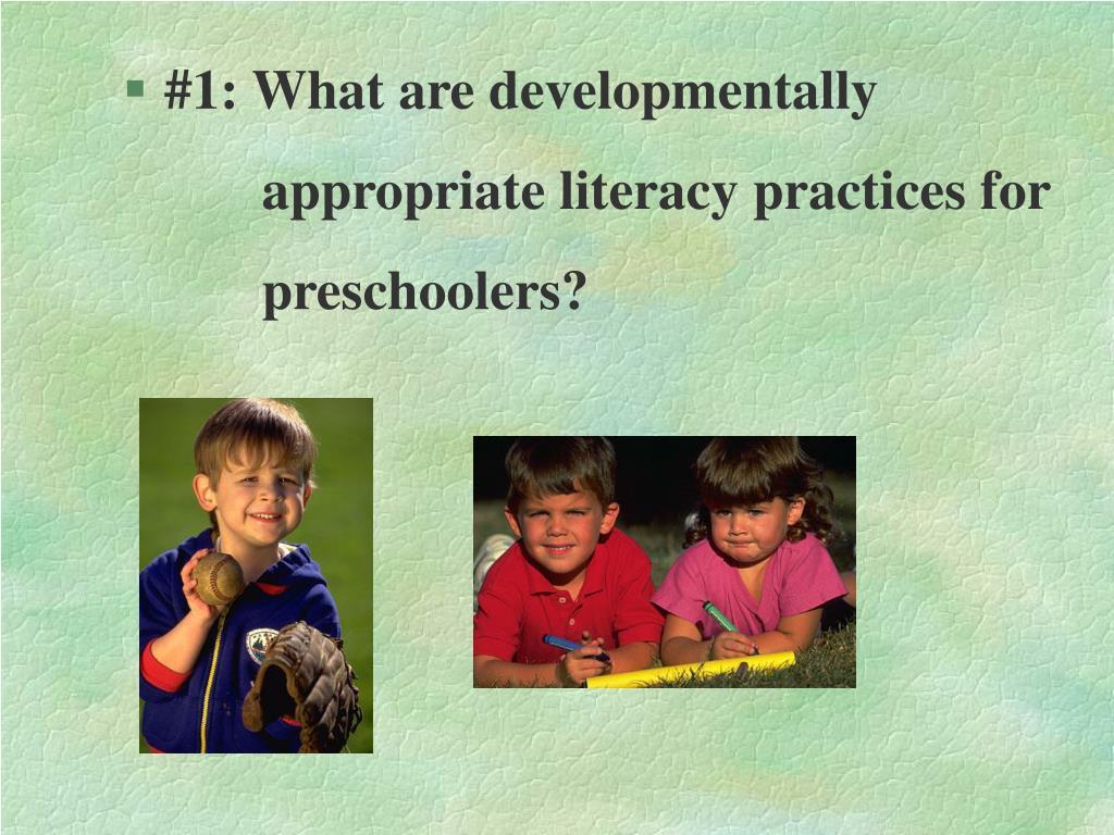 #1: What are developmentally