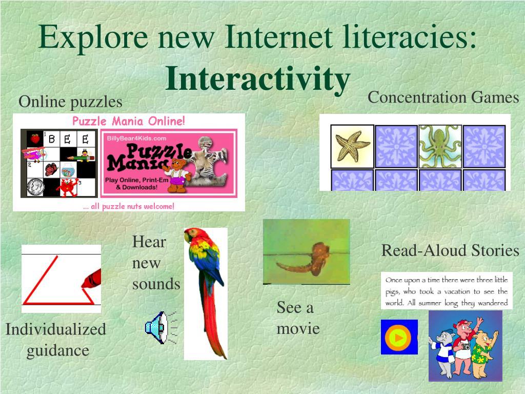 Explore new Internet literacies: