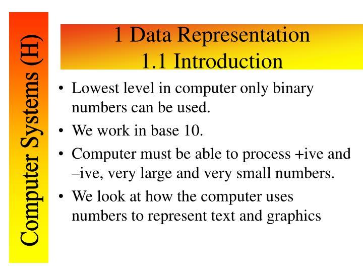 1 data representation 1 1 introduction