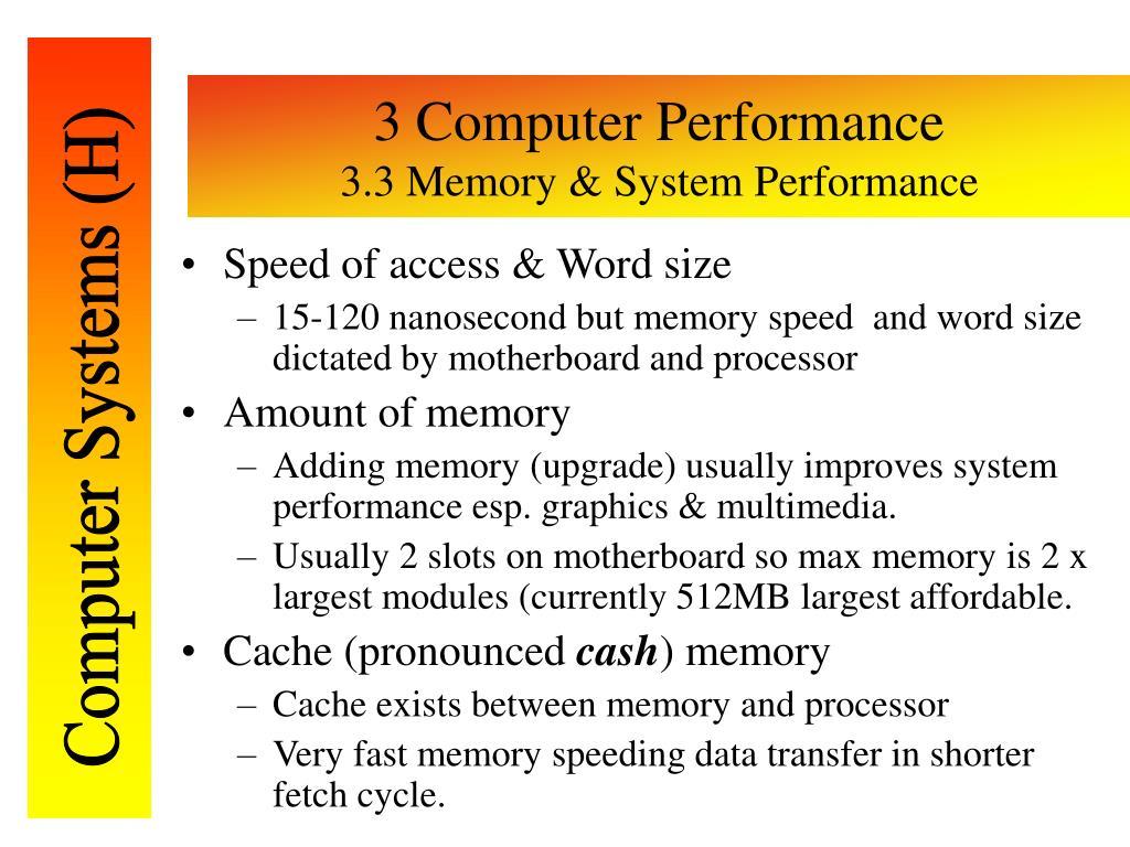 3 Computer Performance
